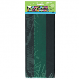 FOREST GREEN SOLID COLOUR CELLO BAGS - pack of 30