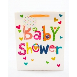 Baby Shower Gift Bag Large Multicoloured Boys Girls Mum Cute Gift Present Party