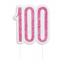 Giltter 100th BIRTHDAY Candles Set