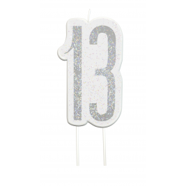 Giltter 13th BIRTHDAY Candles Set