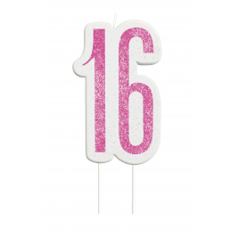 Giltter 16th BIRTHDAY Candles Set