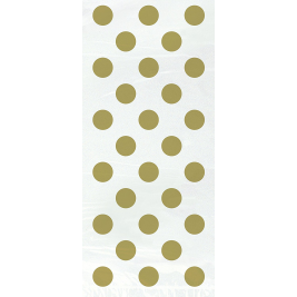 GOLD POLKA DOTS Cello Bags  - Pack of 20