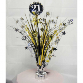 Gold Sparkling Celebration 21st Spray Centrepieces 33cm