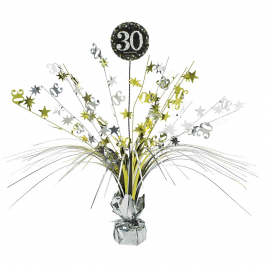 Gold Sparkling Celebration 30th Centrepiece Spray 33cm