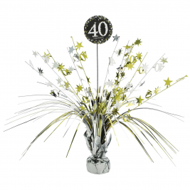 Gold Sparkling Celebration 40th Spray Centrepieces 33cm