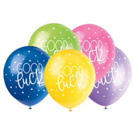 GOOD LUCK  ASSORTED BALLOONS PACK OF 5