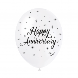 HAPPY ANNIVERSARY BALLOONS PACK OF 5