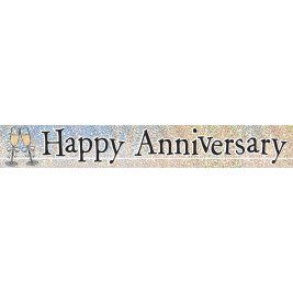 Happy Anniversary Prism Foil Banner 12ft
