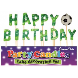 Happy Birthday Football Pick Candles (Sold in 6s)