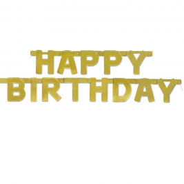 Happy Birthday Gold Deluxe Jointed Banner