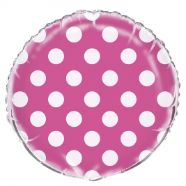 Hot Pink Dots Foil Balloon 18