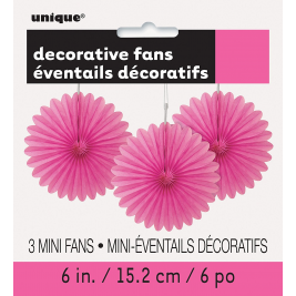 hot pink colour DECORATIVE  FANS