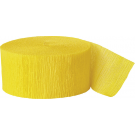 Hot Yellow Crepe Streamers 81 Ft. /24.6m