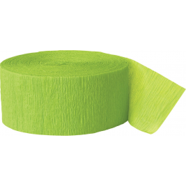 Lime Green Crepe Streamers 81ft