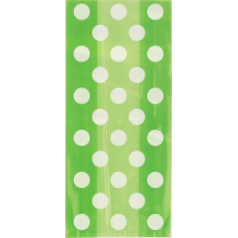Lime Green Dots Cello Bag (20pk)