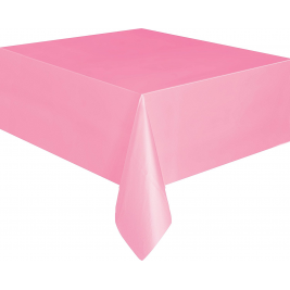 Lovely Pink Plastic Tablecover 54