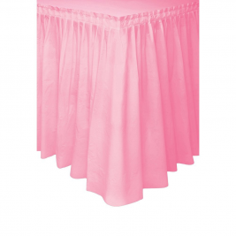 Lovely Pink Plastic Tableskirts 14ft x 29