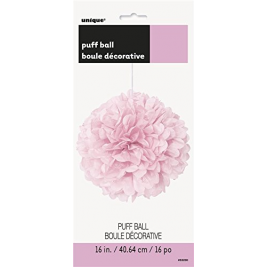 Lovely Pink Tissue Puff Decorations 16