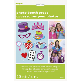 Mad Hatter Tea Party Photo Booth Props (10pk)