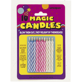 Magic Birthday Candles Assorted Colours (10pk)