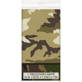 Military Camo Plastic Tablecover 54