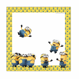 Minions Luncheon Napkins 33cm  - pack of 16