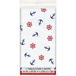 Nautical Birthday Plastic Tablecover 54