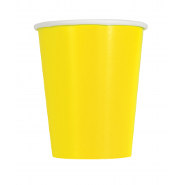 Neon Yellow Cups 9oz (14pk)