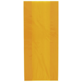 ORANGE SOLID COLOUR CELLO BAGS - pack of 30