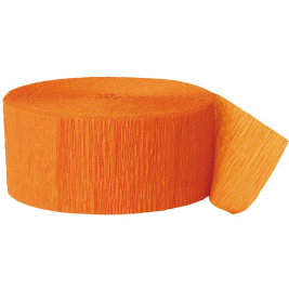 Orange Crepe Streamers 81ft
