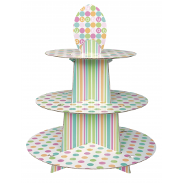 Pastel Baby Shower 3-Tier Cupcake Stand
