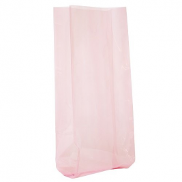 PASTEL PINK SOLID COLOUR CELLO BAGS - pack of 30