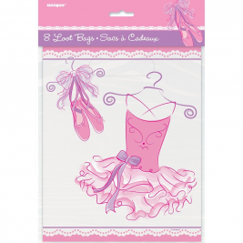 Pink Ballerina Party Bags, Pack of 8