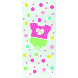 Pink Dots Baby Shower Cello Bags (20pk)