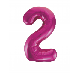 Pink Foil Gaint Helium Balloon Number 2 - 34