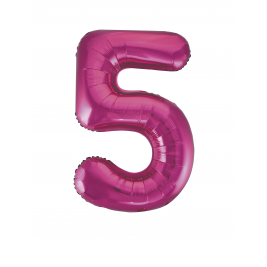 Pink Foil Gaint Helium Balloon Number 5 - 34