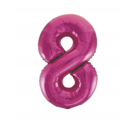 Pink Foil Gaint Helium Balloon Number 8 - 34