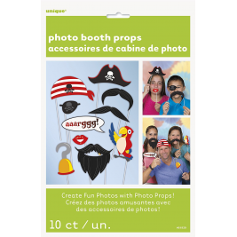 Pirate Photo Booth Props (10pk)
