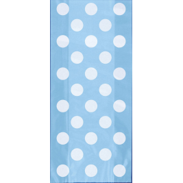 Baby Blue Polka Dots Cello Bags  - Pack of 20