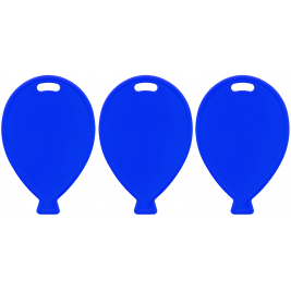 Primary Blue Balloon Shape Weights x100pcs