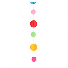 Primary Colours Circle Tissue Balloon Tail