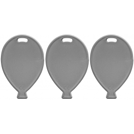 Primary Silver Balloon Shape Weights  x100pcs