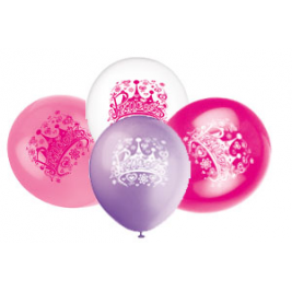 PRINCESS DIVA ASSORTED BALLOONS PACK OF 8