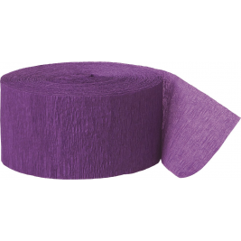24m Purple Crepe Paper Party Streamer