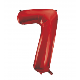 Red Foil Balloon Number 7 - 34