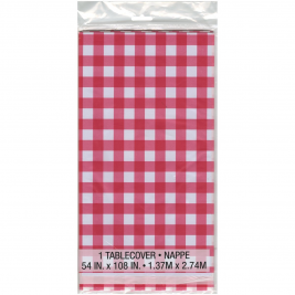Red Gingham Tablecover 54