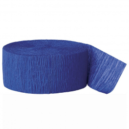 Royal Blue Crepe Streamers 81ft