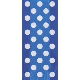 Royal Blue Dots Cello Bags (20pk)