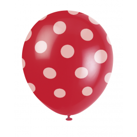 Ruby Red Dots Printed 12