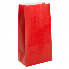 Ruby Red Paper Party Bags (12pk)